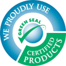 In our green cleaning services in Cleveland area we proudly use Grean Seal certified products
